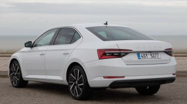 Skoda Superb iV - rear 3/4 static