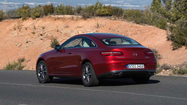 Mercedes E-Class Coupe - E 220d rear cornering