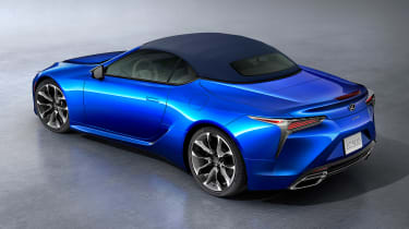 Lexus LC Convertible - blue roof up above