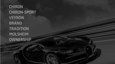 Bugatti Chiron-Sport website