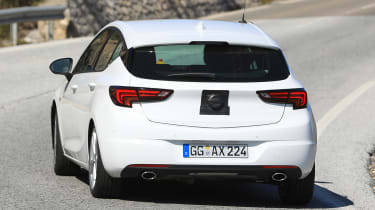 2019 Vauxhall Astra spied - rear