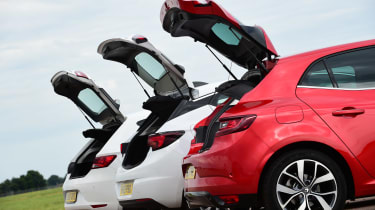 Renault Megane vs Vauxhall Astra vs SEAT Leon - boot comparison