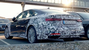 Audi A5 Sportback spies - rear 3/4
