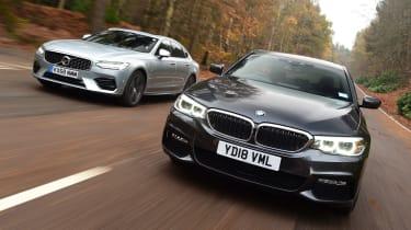 BMW 530e vs Volvo S90 T8 - header