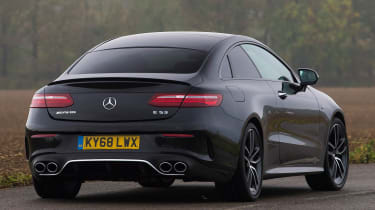 mercedes amg e53 coupe tracking rear