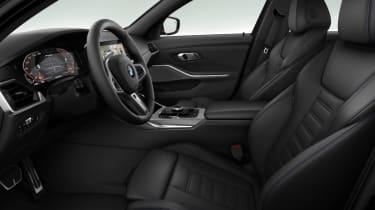 Leaked BMW 3 Series - front seats black