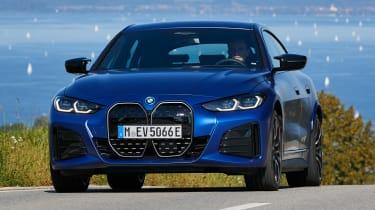BMW i4 - front cornering