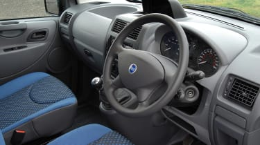 The cab has resonable storage space and a comfortable driving position.