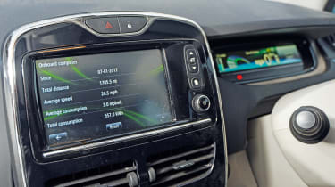 Electric car case study - Renault ZOE Sam East infotainment
