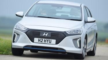 Hyundai Ioniq silver front