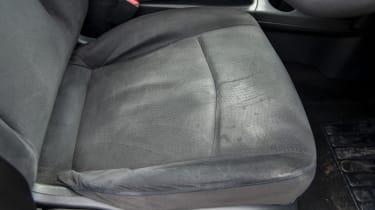 EV driving school - Nissan Leaf - worn seat