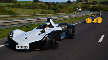 BAC Mono and Radical SR3 SL front tracking