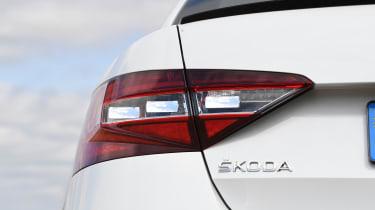 Used Skoda Superb - rear light
