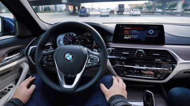 BMW 5 Series Personal CoPilot autonomous prototype interior