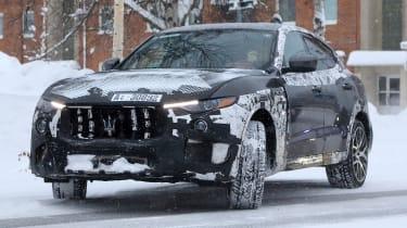 Maserati Levante GTS spy shot - front cornering
