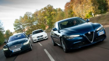 Alfa Romeo Giulia vs Jaguar XE vs BMW 3 Series - group 2