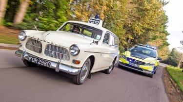 Volvo 121 Amazon police car - action