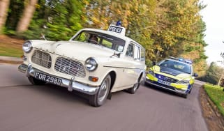 Volvo 121 Amazon police car - action