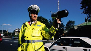 Traffic Police with speed camera