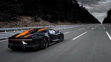 Bugatti Chiron Supersport 300+ rear track