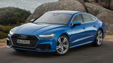 Audi A7 blue