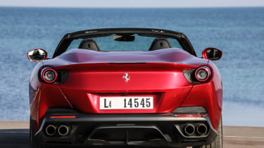Ferrari Portofino - full rear static roof open