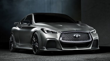Infiniti Q60 Project Black S - front quarter