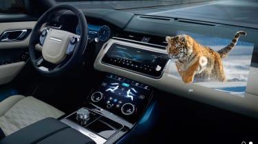 Jaguar - 3D head-up display tiger