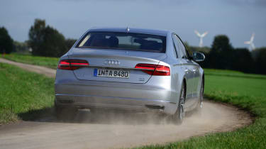 Audi A8 rear tracking