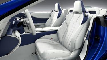 Lexus LC Convertible - cabin blue