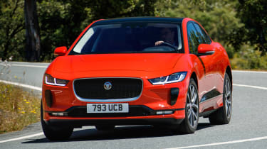 Jaguar I-Pace - front cornering action