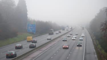 Motorway driving fog