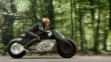 BMW Motorrad Vision Next 100 side driving