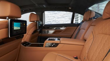 BMW 750i - rear seats