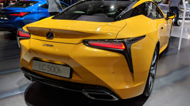 Lexus LC Limited Edition yellow rear
