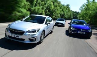 Subaru Impreza vs Volkswagen Golf vs Honda Civic
