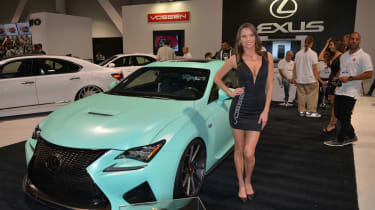 Lexus created this customized RC-F coupe by using Instagram to find out what fans would like to see. It was then given to tuner Clark Ishihara for him to apply the selected mods to the powertrain, brakes, suspension, body and the custo