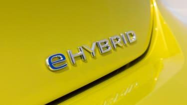 Volkswagen Golf eHybrid badge