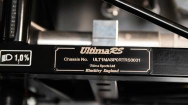 Ultima RS - studio engine plate