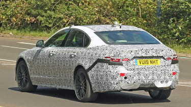 Jaguar XF spy - rear