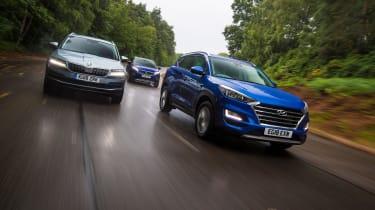 Hyundai Tucson vs Peugeot 3008 vs Skoda Karoq