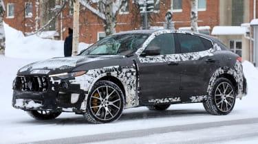Maserati Levante GTS spy shot - front