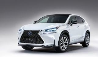 Lexus NX revealed white front