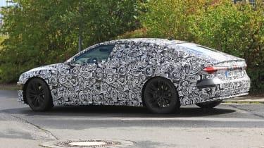 New 2018 Audi A7 spy shot side