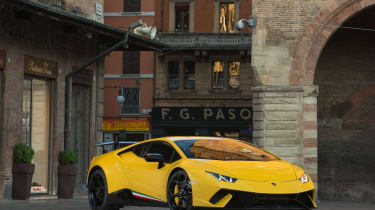 Lamborghini Huracan Performante 2017 review static front