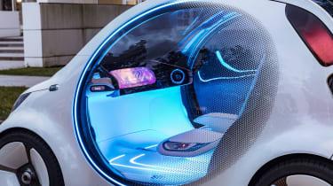 Smart Vision EQ ForFour concept - interior