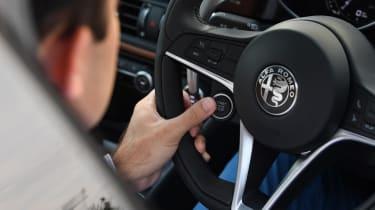 Alfa Romeo Giulia interior steering wheel