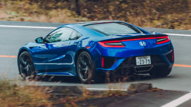 Blue NSX cornering