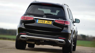 Mercedes GLS - rear cornering