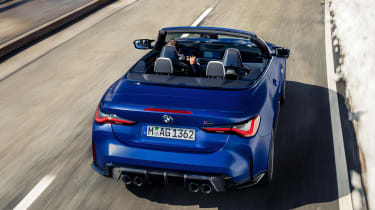 BMW M4 Competition Convertible - rear tracking